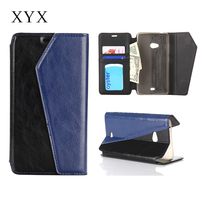 newest design refined leather back cover case for nokia lumia 540