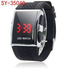 Online Shopping led gift watch silicone sport mirror led watch hot SY-LED