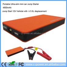 Gasoline and diesel battery jump starter compact car charger