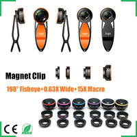 >universal clip-on 3 in 1wide angle camera lens for mobile phone/