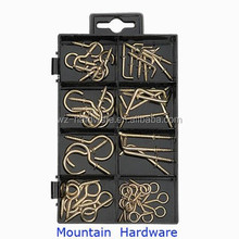 Hot Selling 110PCS Assorted Hooks & Eye Screws Kit Made in China