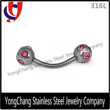 Barbell Stainless steel Curved Eyebrow Rings for eyebrow piercing