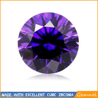 Round cut amethyst 7.5mm cubic zirconia loose stone 1000pcs/bag sale