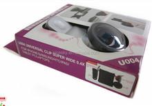 Hot selling !Self Shot 0.4X Super Wide Angle Lens For Mobile Phone self camera lens