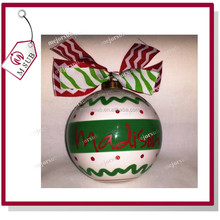 "HOT!ON SELL!GOOD QUALITY!One Christmas Ornament Personalized Custom Name Ornament 5.5"" Large Glass Ceramic Ball"