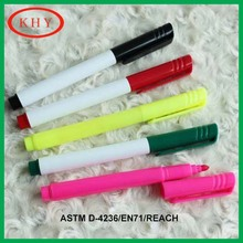 Making on most surface durable tip plastic cap with pocket clip permanent marker pen