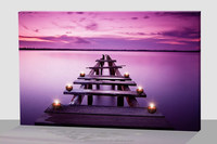 seaside modern led canvas painting art,led canvas art ,picture art