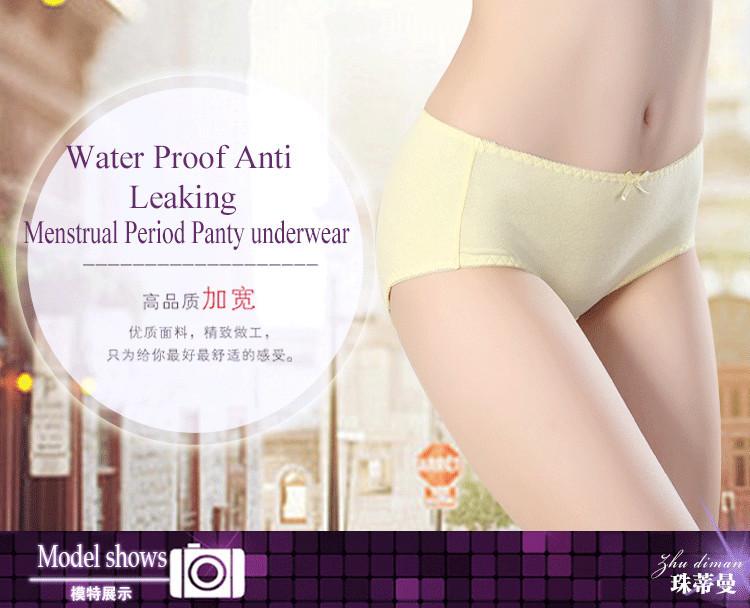 Lovely Cute Girl Anti Leaking underwear menstrual panties Water Proof period panties.jpg
