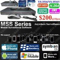 BlackBerry Windows Mobile NOKIA 16ch 480/400fps Stand alone DVR, H.264 3G Network DVR Stand Alone, CMS MSS D1 DVRs