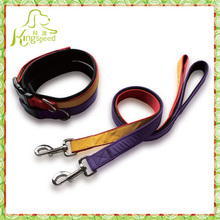 2015 soft Neoprene dog collar pet leash