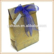 Textured Paper Gift Bag With Ribbon Decorative