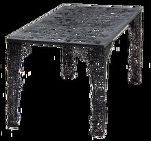 escultura de hierro metálico antigua decoración de la escultura de la mesa