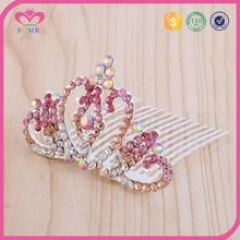Princess tiara crystal hair piece crown wholesale