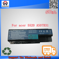 as07b31 li-ion replacement battery for acer 5220 5520 Series AS07B41 AS07B42 AS07B72 notebook battery