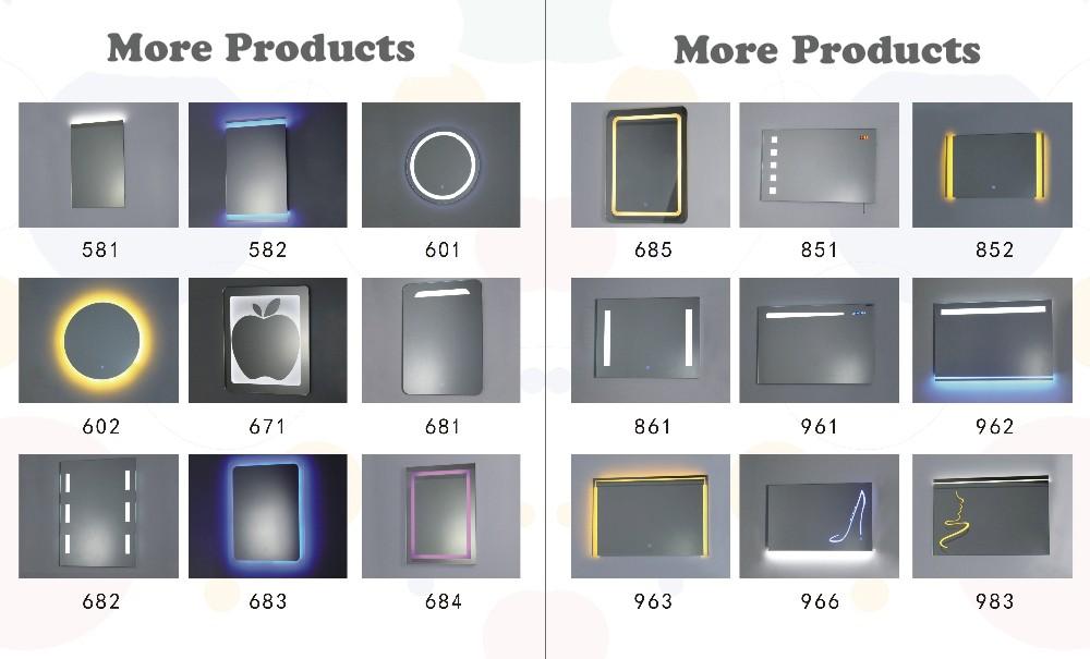 Lumineux fonction r tro clair led lumi re miroir tactile for Specchio bagno 3d