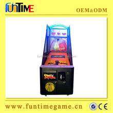 2015 hot sale indoor amusement basketball shooting game / indoor arcade hoops cabinet basketball game
