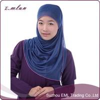 Muslim headscarf fashion modesty fabric in the Middle East Arab clothing islamic long hijab scarf