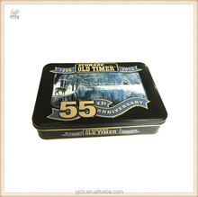 rectangle embossed pretty pattern vintage tin box