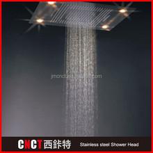 "8"" square Brush Surface 304 stainless steel LED aroma sense 701 vitamin c shower head (as-701%2"