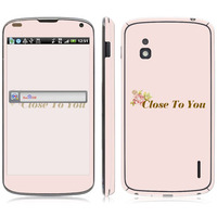 Close to You Vinyl Screen Protector For LG Series, for E960 sticker.