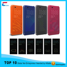 4 colors Dot View Flip Case Cover for HTC one M9 Silicon Dot Matrix view smart Phone Case W/ Auto Sleep Wake Function