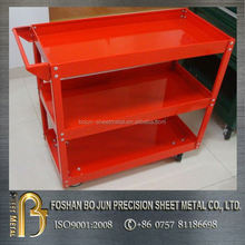 custom manufacturing company good selling red metal sheet trolley product with high quality guarantee