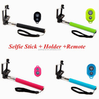 Colorful handheld monopod bluetooth wireless selfie stick 2015 blue tooth selfie stick