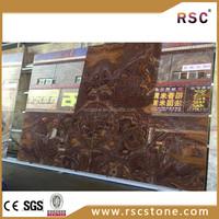 Natural stone tan brown Tiger onyx granite