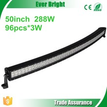Curved Led Light Bar 96pcs*3W 288W arced camber led light bar atv led light bar 50 inch light bars Arc Light Bar