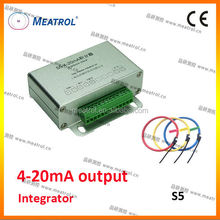 clamp-on probe 4-20mA output integrator S5 series with favorable price rail type integrator power sensor