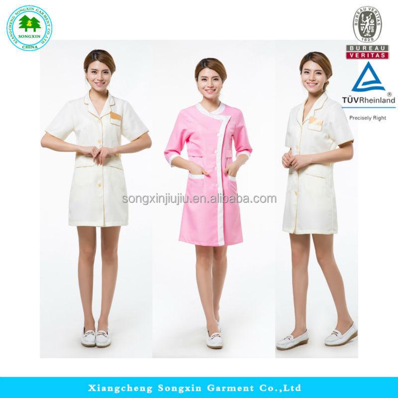 Hot sale beauty uniform for women uniform for hair salon for Spa uniform indonesia
