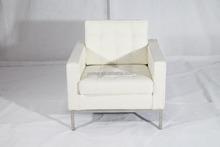 Modern designer sofa white genuine leather Florence knoll sofa chair