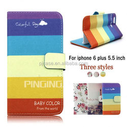 Colorful printed pu leather case flip cover for blackberry Priv, mobile phone case for blackberry Priv