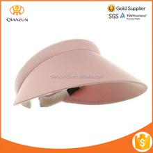 Wide brim summer sun visor cap and hat plastic cap