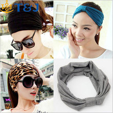 New Korean wide soft elastic headbands sports yoga women adult girls lady wholesale headband/