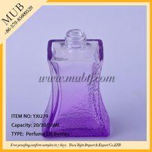 Top level promotional female glass perfume bottle