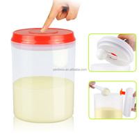 shenzhen 1.5liter one button open and lock red lid with pendant plastic formula milk powder can