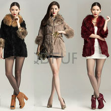 QD29646 cheap china wholesale rabbit fur and raccoon fur women winter coats