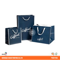 custom Printing Italy top Chocolate brand Caffarel packaging shopping paper bag A001