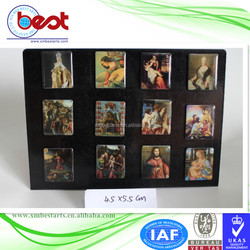 promotional souvenir 3D custom epoxy holiday gift famous painting fridge magnet