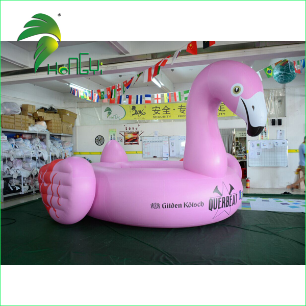 large pink inflatable swan (1)