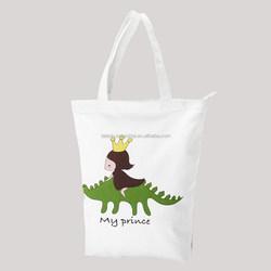Fashion canvas duffle bag with zipper