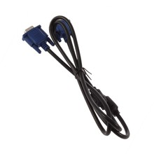 1.5VGA Male to Male OBD2 Extension Cable VGA RCA Cable color is black New Micro USB Extension Cable