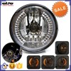 BJ-HL-007 Wholesale 35W black amber round motorcycle LED headlight bulbs with turn signal
