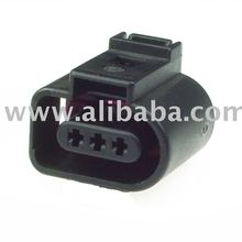 3D0973703 - 3 Way Sealed Female Connector for VW, Seat, Skoda (3DO 973 703, 3DO973703)