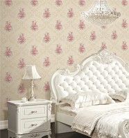 classical design vinyl deep embossed beautiful bedroom decorating wall papers