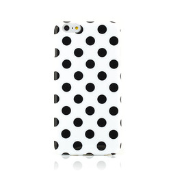 Stylish polka dots phone case cover for iPhone 6 plus silicone rubber