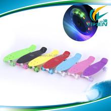 4 LED light wheel mini fish cruiser skateboard