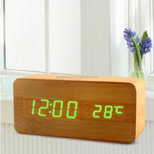Digital table wood alarm clock & Household adornment wood clock