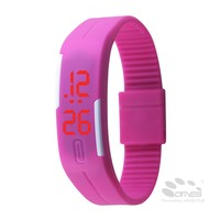 Colorful Sports Silicone Digital LED Bracelet watch gift items for office